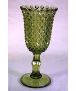 "Westmoreland Sawtooth Moss Green Vase  #556 9 1/2"" - $12.59"