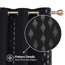 Deconovo Grommet Living Curtains Foil Print Rhombus Design Blackout Curt... - $37.36