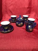 Japanese vintage cobalt blue tea set - $22.99