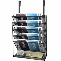 SamStar Hanging Wall File Organizer, 5 Slot Mesh Metal Wall Mounted Docu... - $29.43