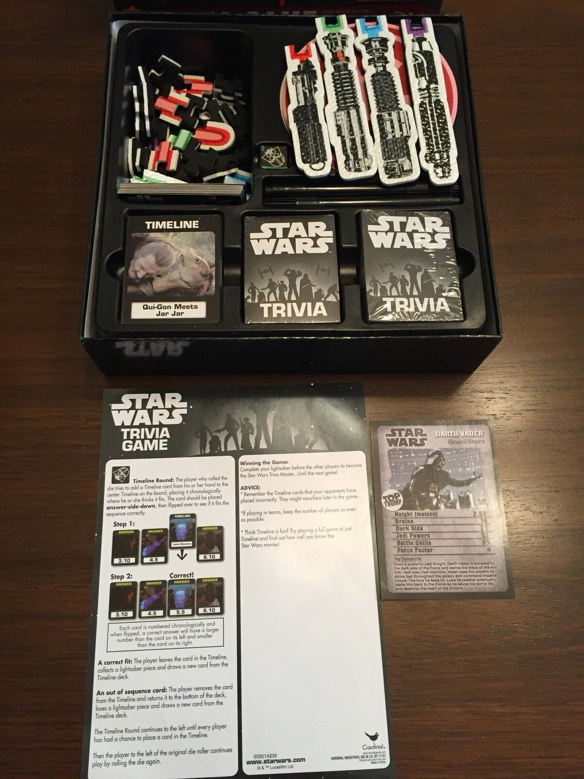 Star Wars Trivia Game Board Game Darth Vader Disney Pre-Owned Great Condition image 6
