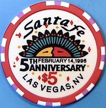 $5 Casino Chip, Santa Fe, Las Vegas, NV. Valentine's 1996. O36. - $5.95