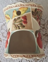 Yankee Candle Tart Warmer Ceramic Leaves Apples Tea Light Candle Holder ... - $9.99
