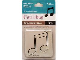Provo Craft Cuttlebug Music Note #2 Die #37-1420