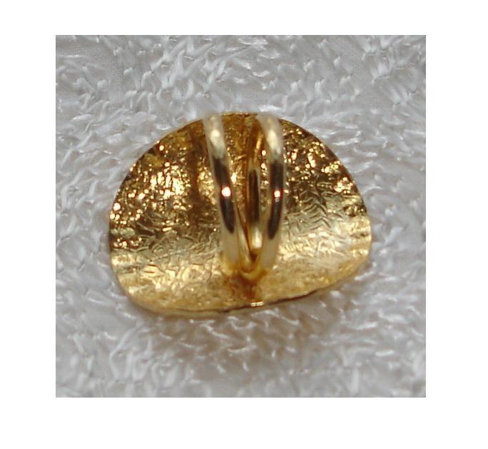 Large Adjustable Ring, Statement Cocktail Ring, Napkin Ring, Star Waffled Edge