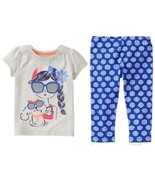 Gymboree 12-18-24 Mix N Match Girl With Poodle Top Blue Flower Leggings NWT - $9.49