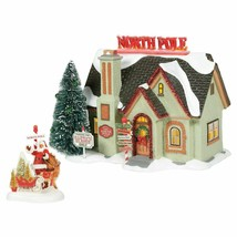 Dept 56 Snow Village Christmas Lane THE NORTH POLE HOUSE 6005449 NEW - $190.00