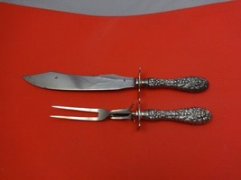 "Rose by Stieff Sterling Steak Carving Set 2pc (Fork 9 1/8"" & Knife 11 5/8"") - $122.55"