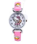 Hello Kitty Girls Watches Light Pink Wristwatch Children Hello kitty Wat... - $12.74