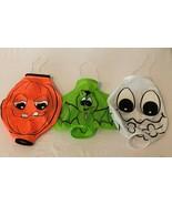 Halloween Windsock Set of 3 Cloth Pumpkin Bat Ghost Hanging Decoration - $9.99
