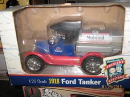 ERTL Mobiloil 1918 Ford Tanker 1:25 Scale Blue Silver -FREE SHIPPING - $20.00