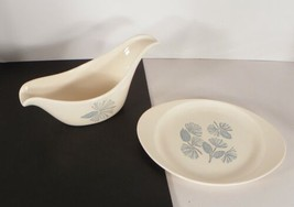 Marcrest Blue Spruce Gravy Boat and Separate Underplate or Relish Dish P... - $14.80