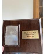 Nolan Ryan Wood Wall Authenticate - $18.81