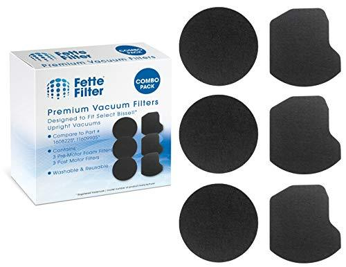 Fette Filter - Vacuum Filter Kit Compatible with Bissell Power Force Helix Turbo