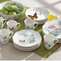 "Lenox ""Butterfly Meadow Monarch SET/10 DINNERWARE MUG/PLATE ASSORTED FLO... - $199.40"