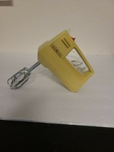 Vintage Retro GE General Electric 3-speed Hand Mixer And Cord Yellow D1M... - $25.00