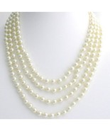 Long Pearl Necklace hand knotted pearl Necklace,100 inches pearl Necklace  - $30.00