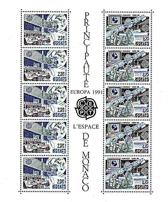 Primary image for MONACO 1991 EUROPA-CEPT //SPACE ACHIEVEMENTS M/S SC#1761a MNH neuf CV$30.00