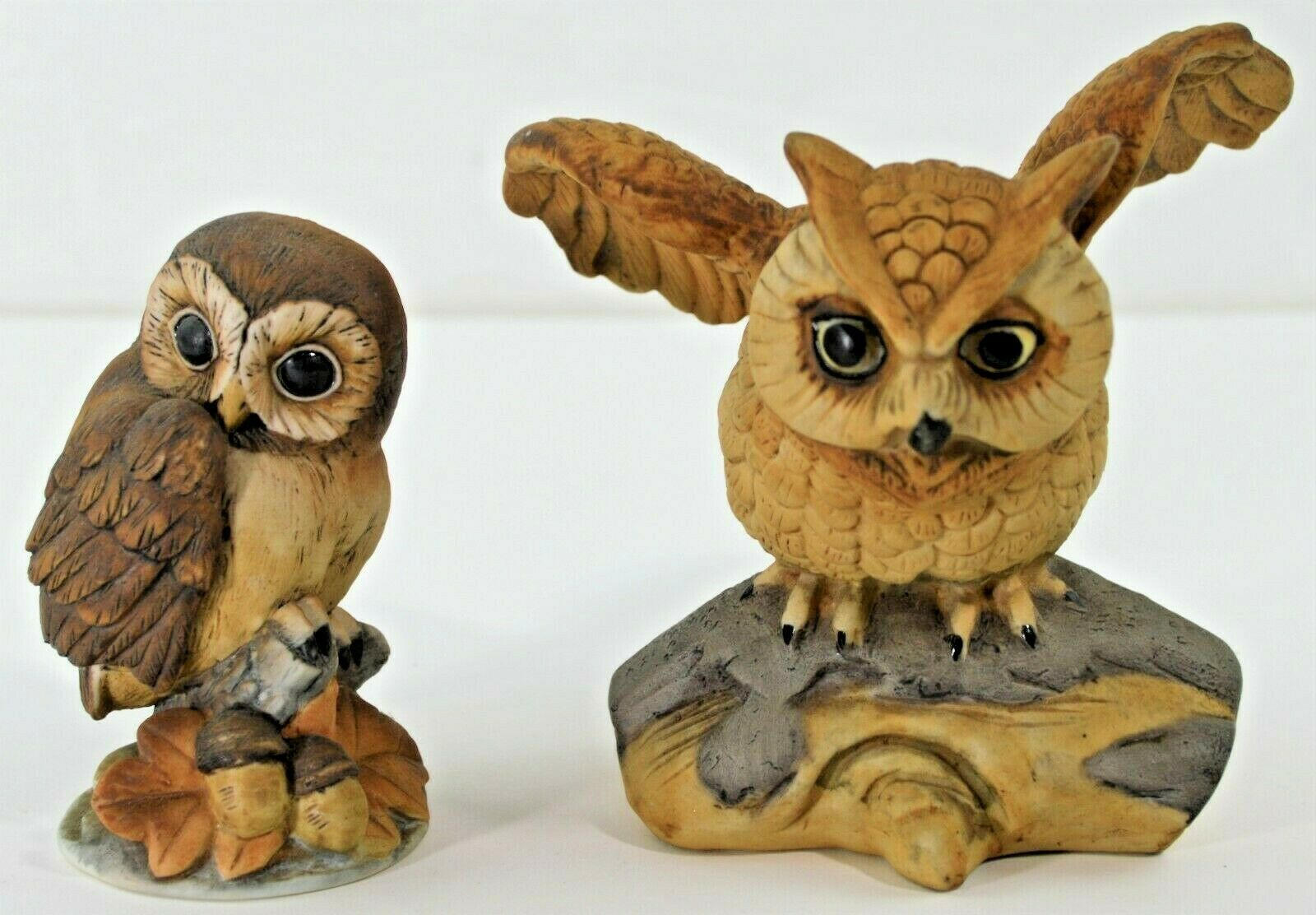 Primary image for Two Owls One Andrea One Other Hand Painted Porcelain Baby Chicks