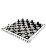 NEW! OnDisplay Deluxe Acrylic Checkers Set - 3D Luxe Crystal Board Game - $69.25