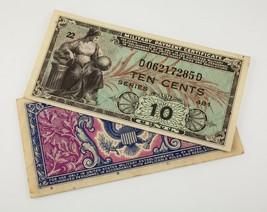 1951&1954 Eeuu Militar Pago 5-25 Centavos Nota Lote de 4 , Serie 481 & 521 - $34.64