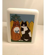 Cats Tissue Box Cover Bed Bath Desk Vanity  Den Nursery green acres company - $12.19