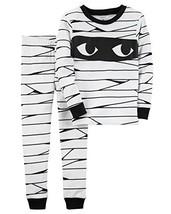Carters Girls/Boys 2-Piece Snug Fit Cotton Halloween PJs 10, White - $33.07