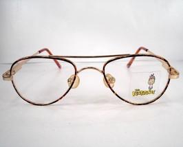 Flintstones 14 Tortoise Gold Children Boys Eyeglasses Frames - $49.49