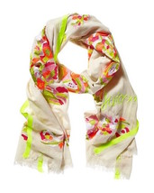 Juicy Couture Scarf Floral Embroidery $188 - $57.42