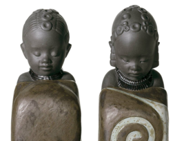 Lladro 01012502 Salt & Pepper Shakers Pulse of Africa Porcelain Figurine... - $188.10
