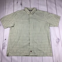 Mens Woolrich Short Sleeve Shirt Vented Outdoors Fishing Plaid 100% Cott... - $17.44