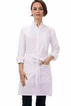 Chef Works Half Bistro Apron, White, 19-Inch Length by 28-Inch Width, White - $16.73