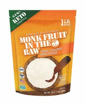 Monk Fruit in the Raw, Zero Calorie Sweetener With Erythritol 16 oz Bag - $19.75
