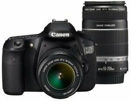 Canon Digital Single-Lens Reflex Camera Eos 60D Double Zoom Kit Ef-S18-55Mm Ef - $692.06