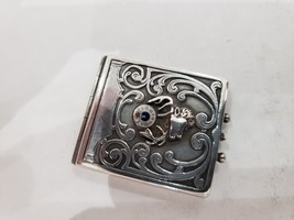 Antique Fraternal Elks BPOE Sterling Silver Card Case / Enameled Plague ... - $123.75