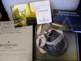 Waterford Crystal Ornament Hope For Abundance 2001 Times Square In Box - $58.66