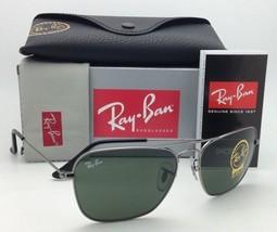 New RAY-BAN Sunglasses CARAVAN RB 3136 004 58-15 140 Gunmetal w/G15 Green lenses