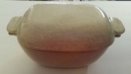Vintage GLIDDEN Pottery #163 Covered Casserole Mid-Century Stoneware Spe... - $45.18