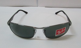 Ray-Ban Sunglasses Gunmetal 3498 004/71 Frame Green Men NEW & 100% Original - £65.28 GBP
