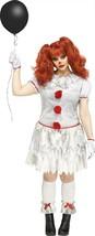 Fun World Karneval Clown Pennywise It Plus Adult Damen Halloween Kostüm ... - $38.92