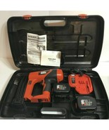 FOR PARTS Black & Decker 12-Volt Ni-Cad 18-Gauge Cordless Finish Nailer ... - $60.00