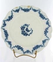 """Antique Flow Blue Transfer Dinner Plate Floral 10"""" - $53.99"""