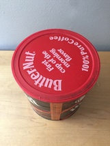 Vintage 1980s Butter-Nut Coffee Can with Original Cover image 4