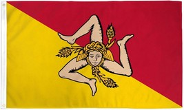 "SICILY 3X5' FLAG NEW 3'X5' 3 X 5 FEET 36X60"" BIG - $9.85"