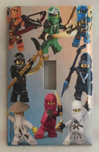Ninjago Ninja characters Light Switch Outlet wall Cover Plate Home decor