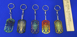 Cross Key Ring Chains Religious Cross Laser Cut... - $9.95