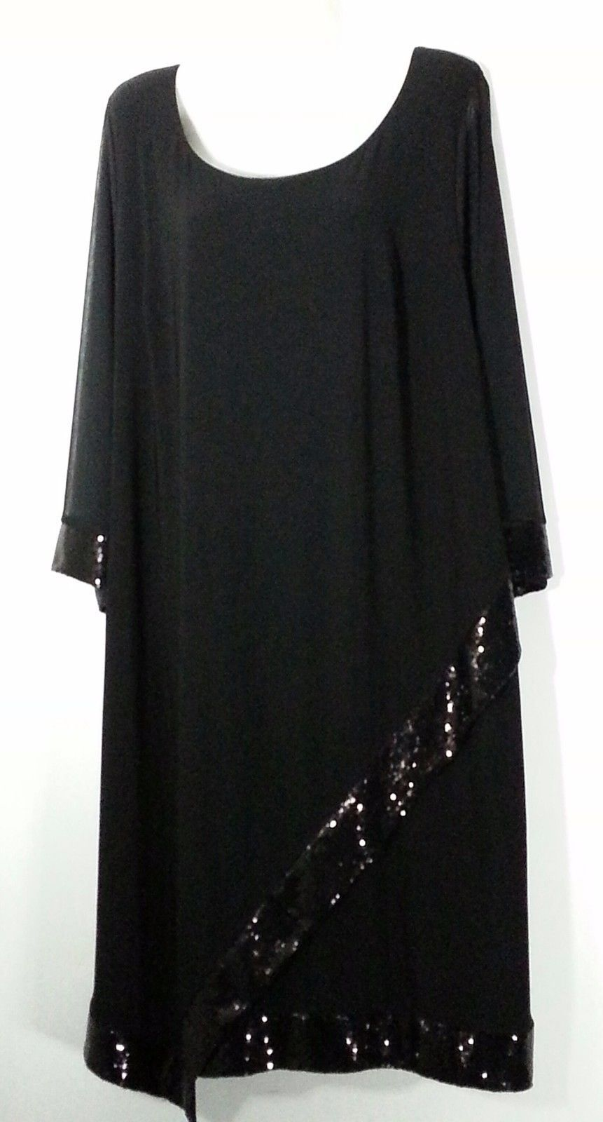 c1ff9e8098 Catherines Black Dress With Sequins 1X 18 20 and 11 similar items. 57