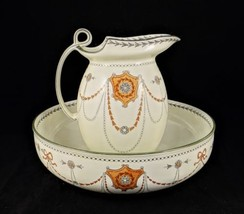Beautiful Large Royal Doulton Pitcher & Wash B ASIN Albany - $195.95