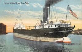 Steamer Freighter John A Donaldson Green Bay Wisconsin 1918 postcard - $6.93
