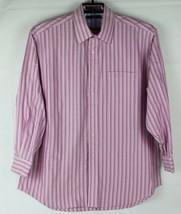 Tommy Hilfiger traveler TLC shirt men's long sleeve pink striped size XL... - $22.78